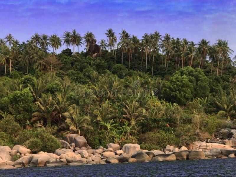 Kąt wyspa obrazy royalty free