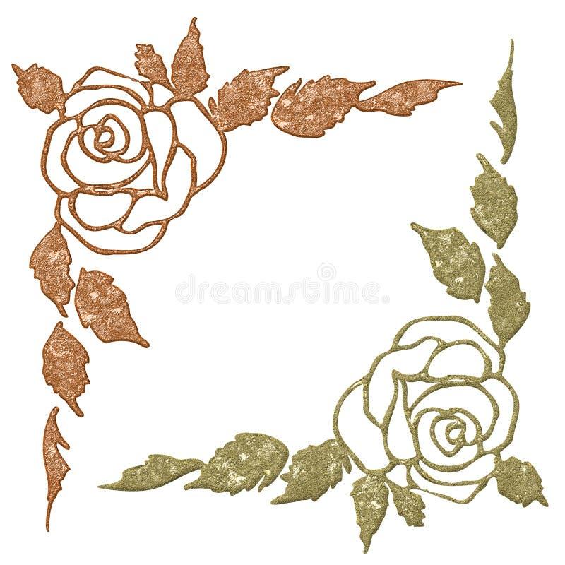 kąta abstrakcjonistyczny kwiat ilustracji