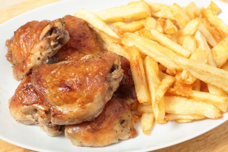 kąta kurczaka dłoniaków wysokości pieczeni uda obraz royalty free