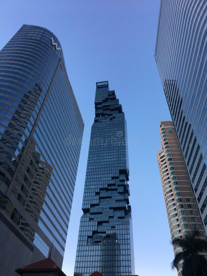 Kąta widok Mahanakhon w Bangkok, Tajlandia zdjęcia stock