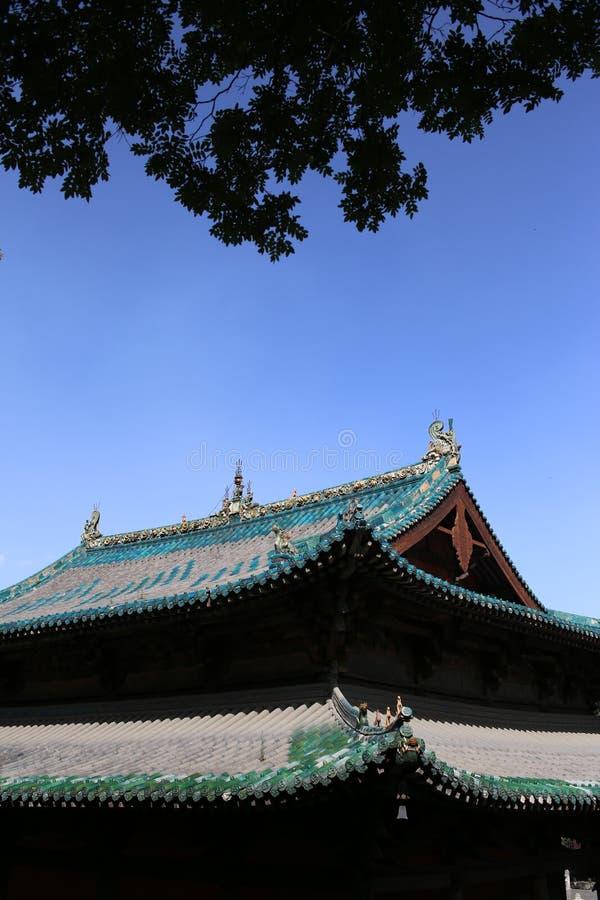 kąta wysokości dachu świątynia zdjęcia royalty free