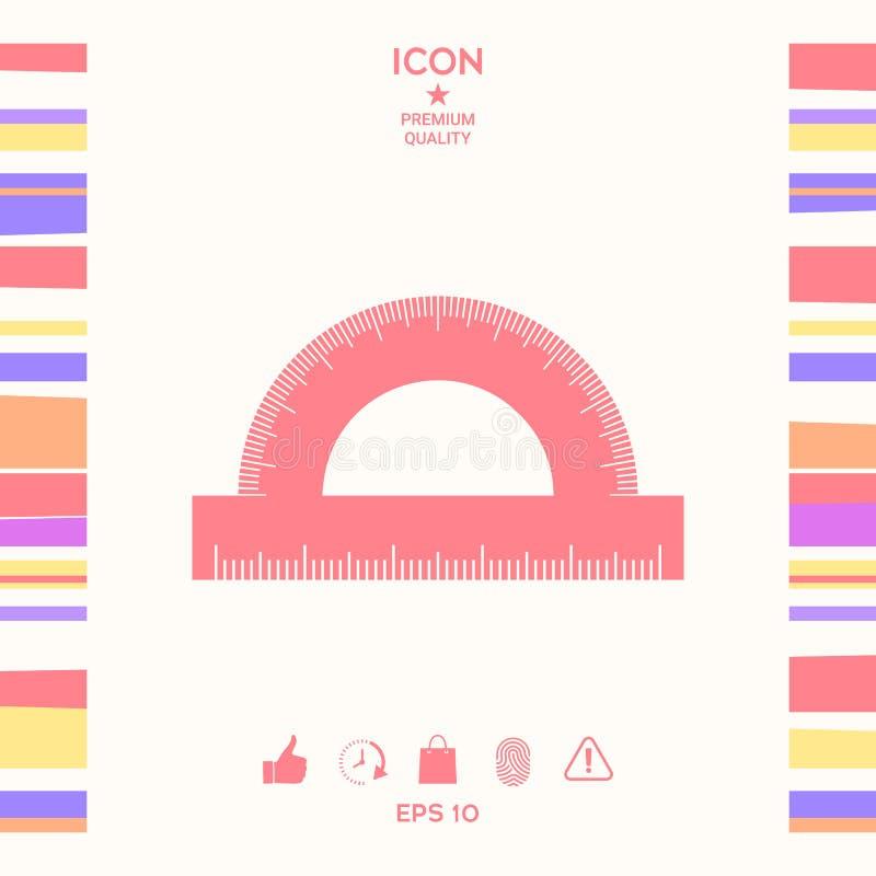 Kątomierza symbolu ikona royalty ilustracja