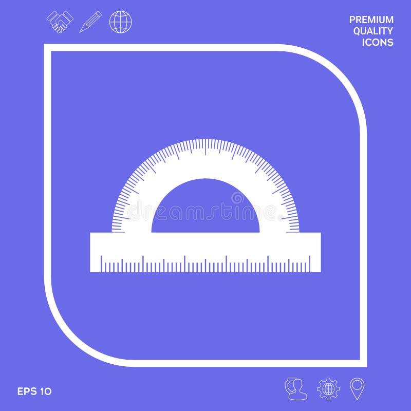 Kątomierza symbolu ikona Graficzni elementy dla twój projekta ilustracja wektor