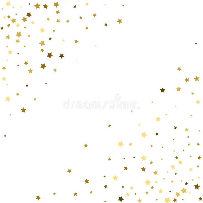 Kąty obramiają, pozaziemski abstrakcjonistyczny wektoru wzór z złoto gwiazdy ele ilustracja wektor