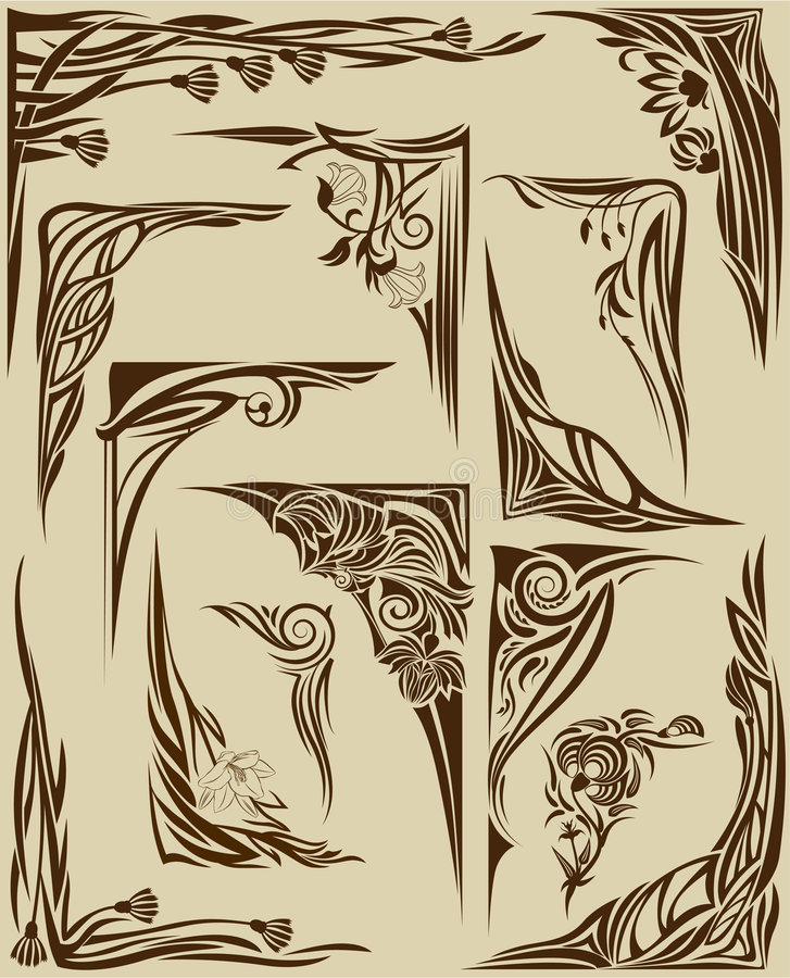 kąty ustawiają ilustracja wektor