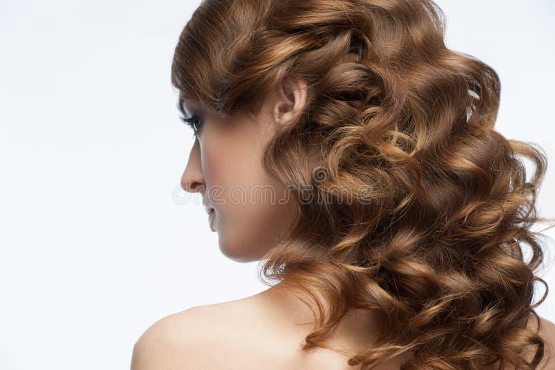 Kędzierzawa fryzura zdjęcia stock