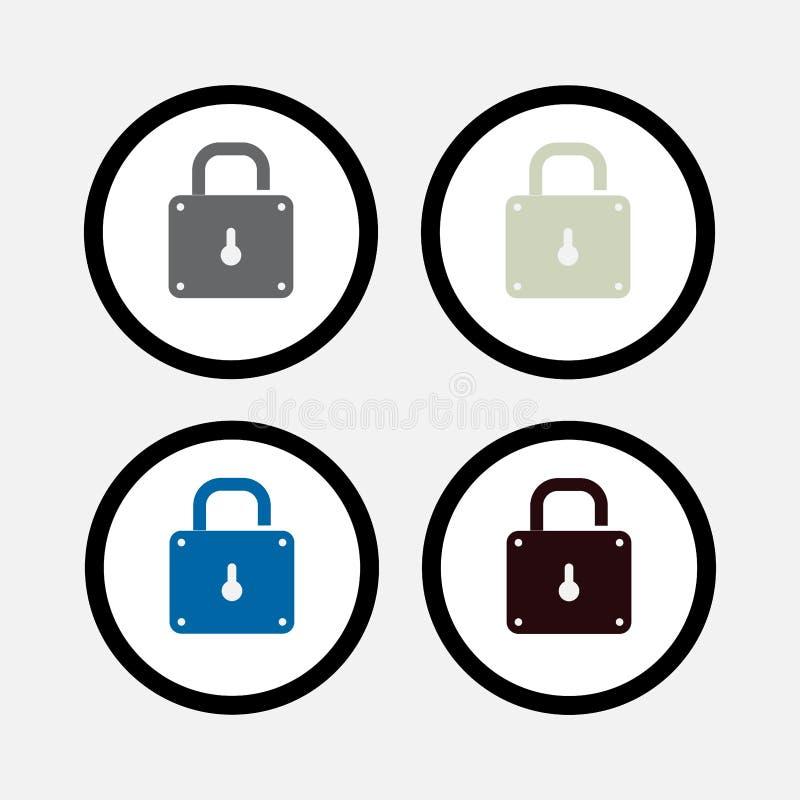 Kędziorek ikona, bezpieczeństwo royalty ilustracja