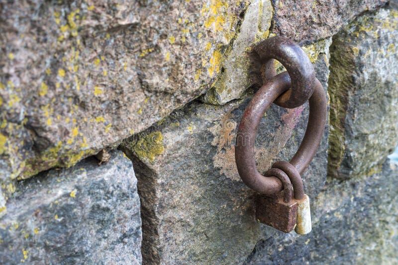 Kędziorek na żelaznym pierścionku zdjęcia stock