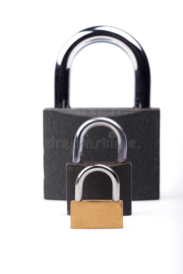 Kędziorek na białym tle Grodowy zakończenie 3d tła majątkowy ochrony renderingu biel Ochrona pieniądze obrazy stock