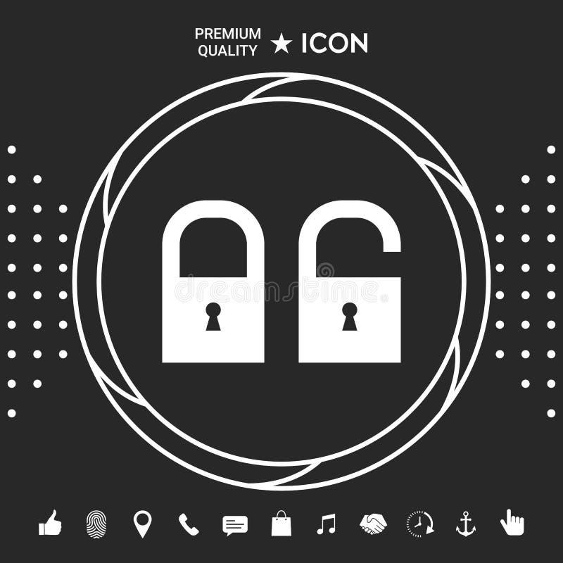 Kędziorek, otwiera - ustaloną ikonę Graficzni elementy dla twój designt ilustracja wektor