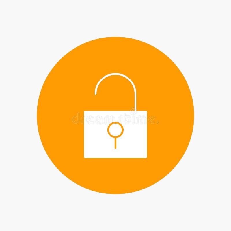 Kędziorek, Otwierający, interfejs użytkownika ilustracja wektor