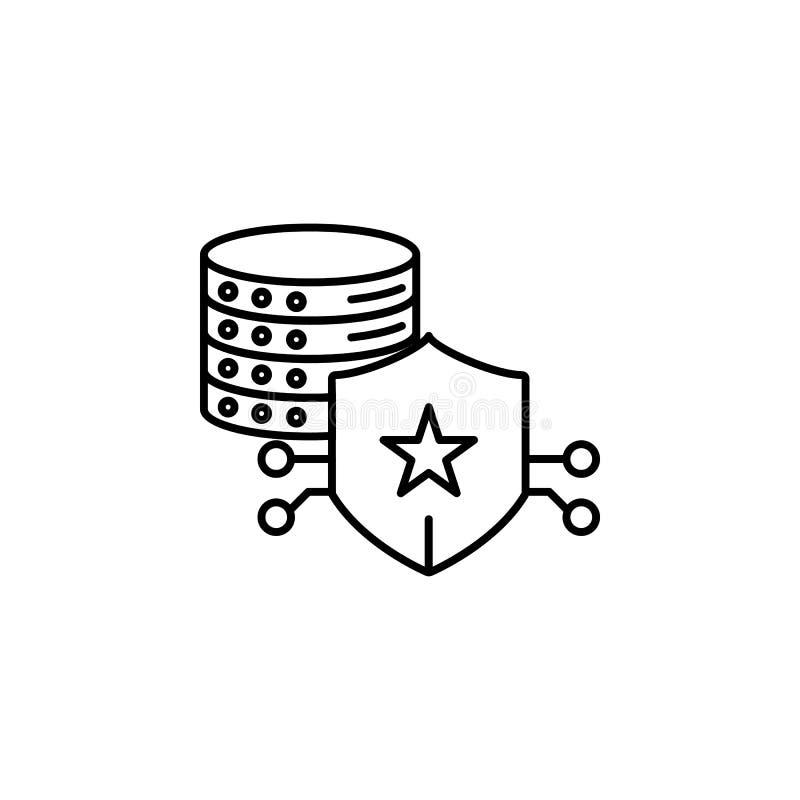 Kędziorek, serwer ikona Element ogólni dane projektuje ikonę dla mobilnych pojęcia i sieci apps Cienki kreskowy kędziorek, serwer ilustracja wektor