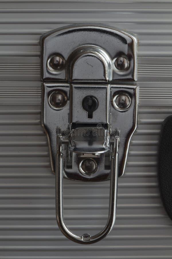 Kędziorek zapadka metal walizka obraz stock