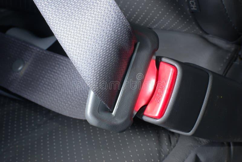 kędziorka samochodowy seatbelt zdjęcie stock