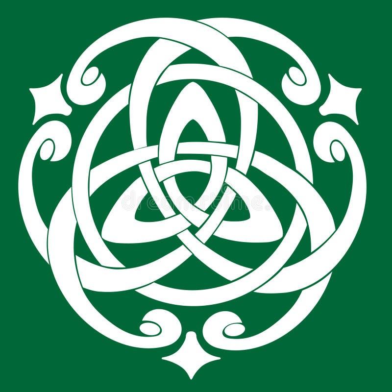 Kępka celtycki Motyw royalty ilustracja