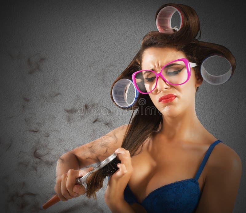 Kępki przy włosy zdjęcia stock