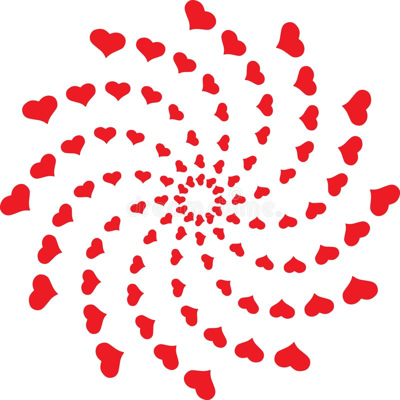 Kłębowisko serce kartki z pozdrowieniami ciułacza rysunek ilustracji
