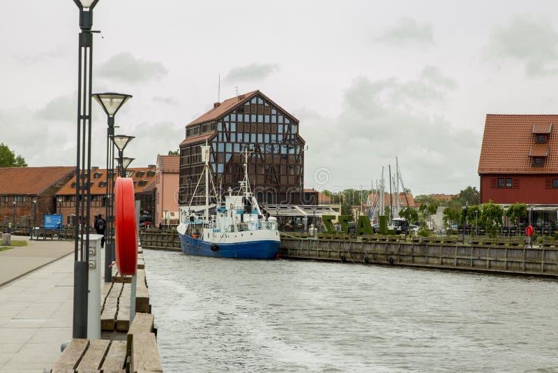 Kłajpeda Rzeka Stare Miasto i Dane Litwa zdjęcia stock