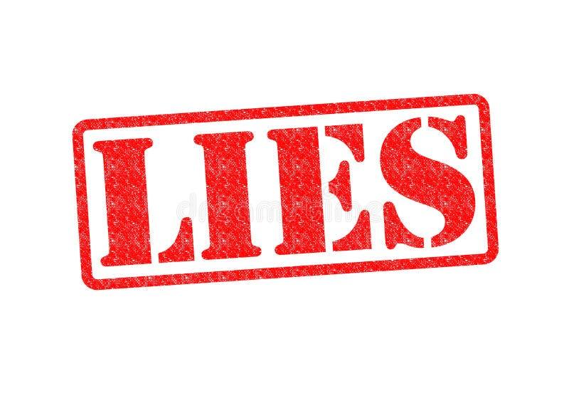 kłamstwa royalty ilustracja