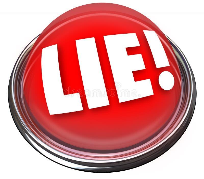 Kłamstwo detektoru czerwonego światła alarma Polygraph Rozblaskowy lying on the beach ilustracja wektor