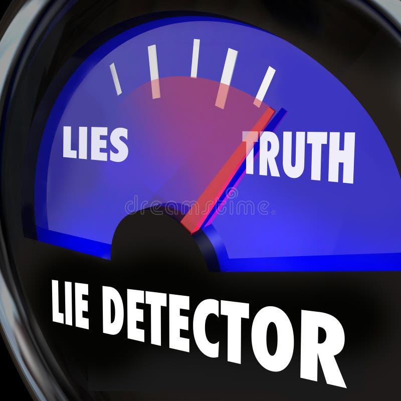 Kłamstwo detektoru prawdy rzetelność Vs nieuczciwości Polygraph Łgarski test royalty ilustracja