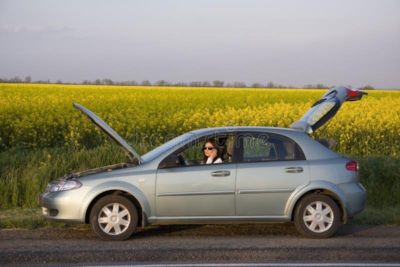 kłopoty drogowy zdjęcie royalty free
