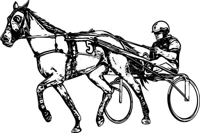 Kłusak w nicielnica rysunku royalty ilustracja