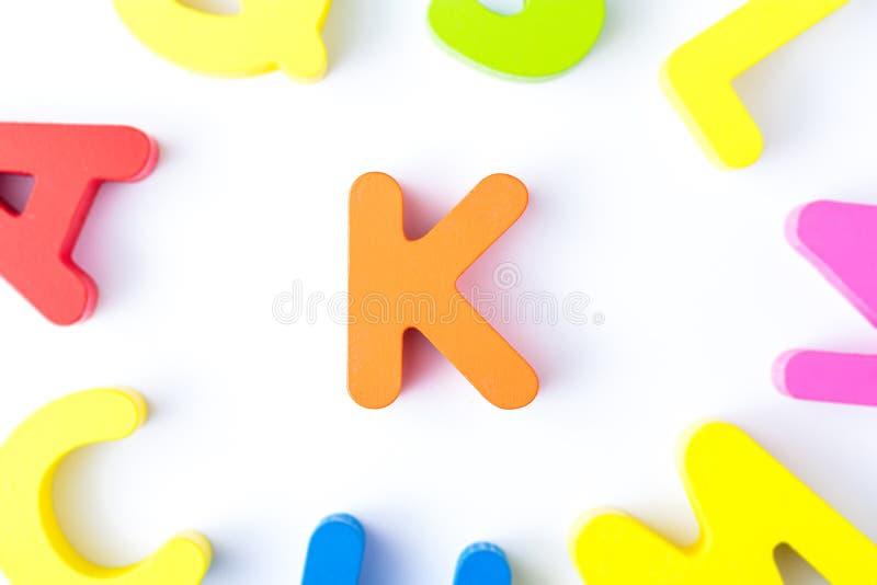 K信件用英语 库存图片