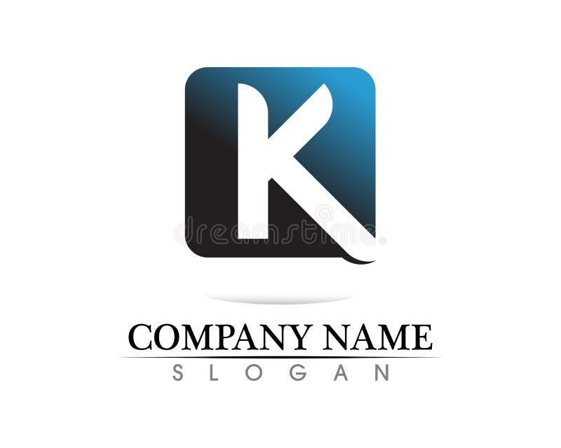 k信件k商标设计和传染媒介 库存例证