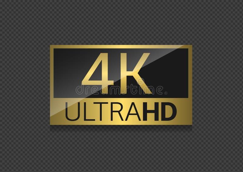4k电视屏幕 向量例证