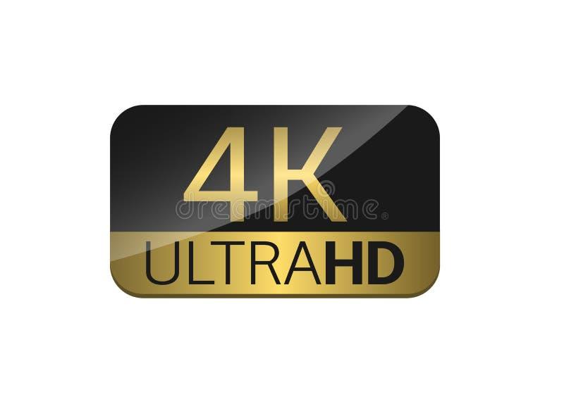 4k电视屏幕 皇族释放例证