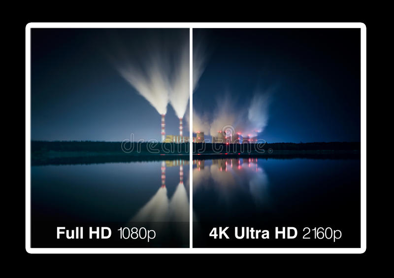 4K电视显示 免版税图库摄影