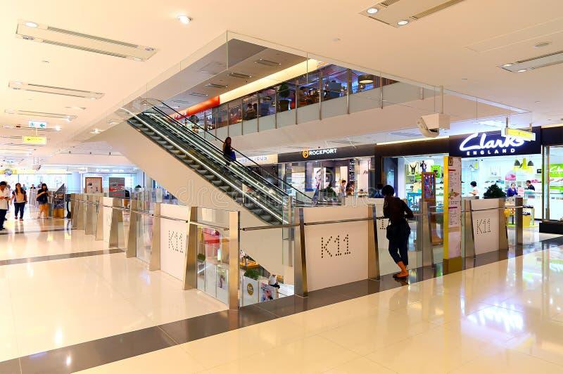 K11 λεωφόρος εσωτερικό Χογκ Κογκ αγορών στοκ εικόνα με δικαίωμα ελεύθερης χρήσης
