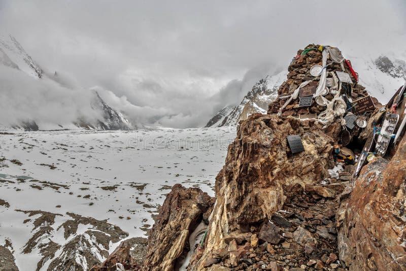 K2 μνημείο στοκ φωτογραφίες