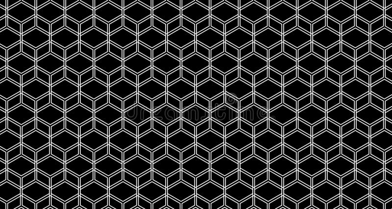 4k ο Hexagon γλιστρημένοι υπόβαθρο Μαύρος και μπλε ζωτικότητας σχεδίων κύβων στοκ εικόνες με δικαίωμα ελεύθερης χρήσης