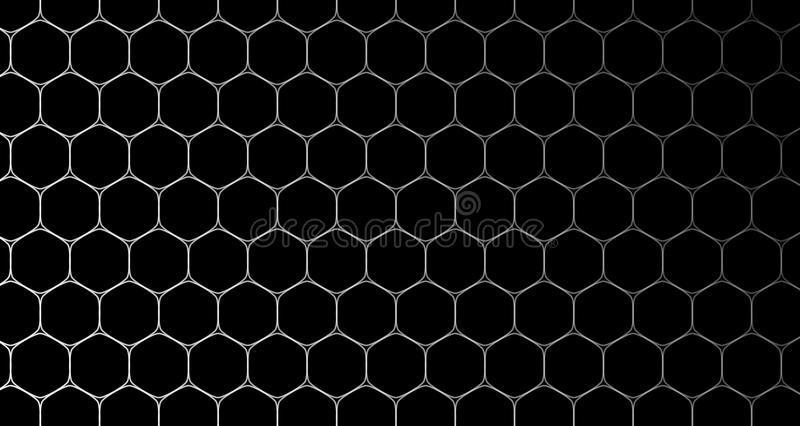 4k ο Hexagon Μαύρος και μπλε σχεδίων κυττάρων υποβάθρου στοκ φωτογραφίες με δικαίωμα ελεύθερης χρήσης