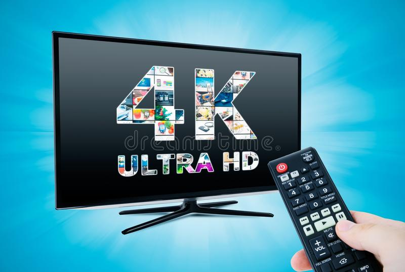 4K τεχνολογία τηλεοπτικού ψηφίσματος στοκ φωτογραφία με δικαίωμα ελεύθερης χρήσης