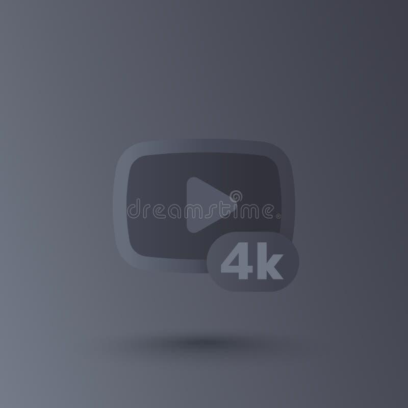 4K τηλεοπτικό διανυσματικό εικονίδιο ελεύθερη απεικόνιση δικαιώματος