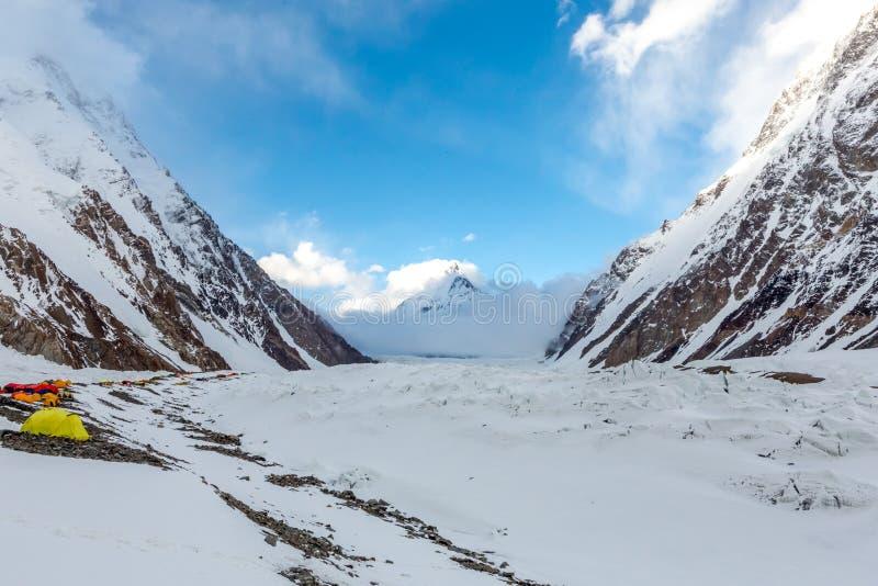 K2 горный пик, K2 trekking, Пакистан, Азия стоковое фото