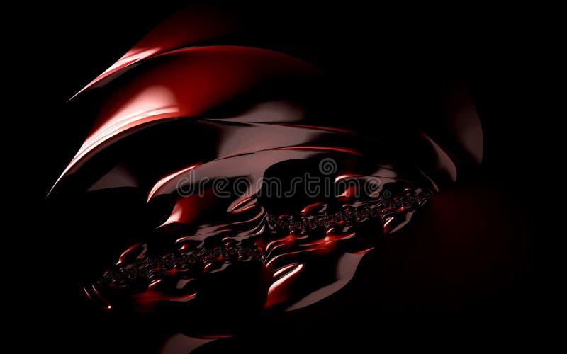 4k abstracte golvenfractals creatieve krommen stock afbeelding