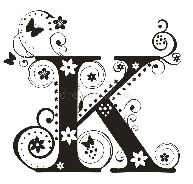 K-bokstav stock illustrationer