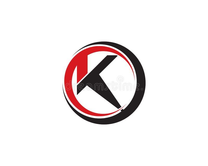 K Brief Logo Template royalty-vrije illustratie