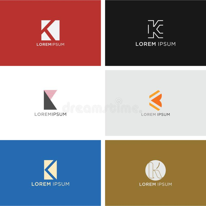 K COLLECTION LOGO VECTOR FOR YOUR BUSINESS royalty free illustration