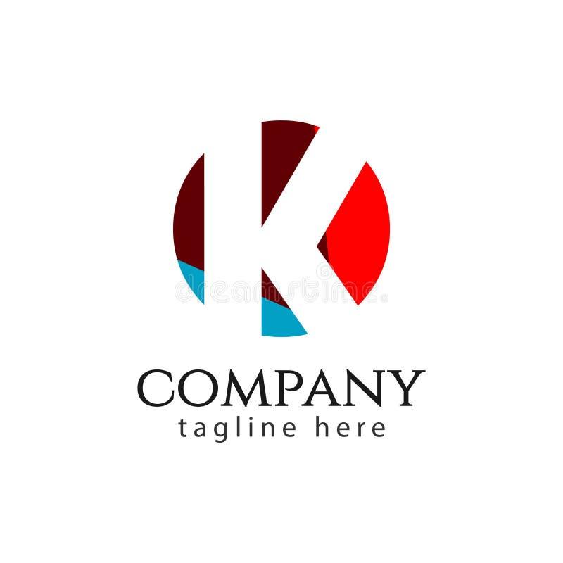 K Company Logo Vector Template Design Illustration vektor abbildung