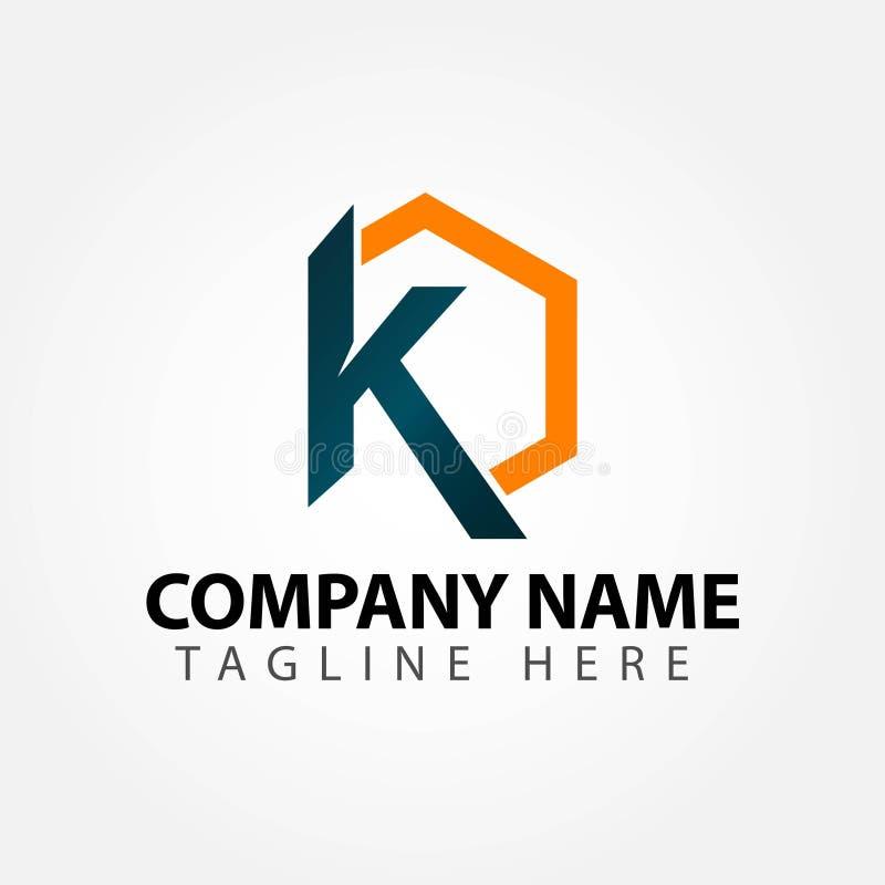 K Company Logo Vector Template Design Illustration lizenzfreie abbildung