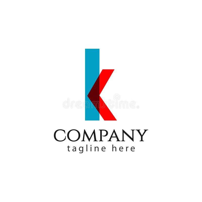 K Company Logo Vector Template Design Illustration stock abbildung