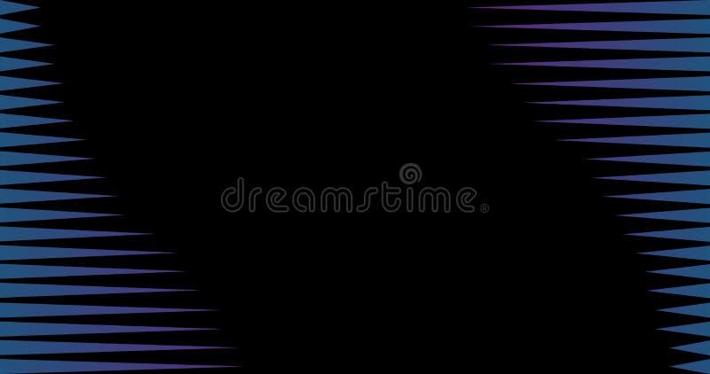 4K Czarnego i Błękitnego trójboka geometrycznego deseniowego abstrakcjonistycznego tła lampasa wektorowa linia, Wektorowa ilustra royalty ilustracja