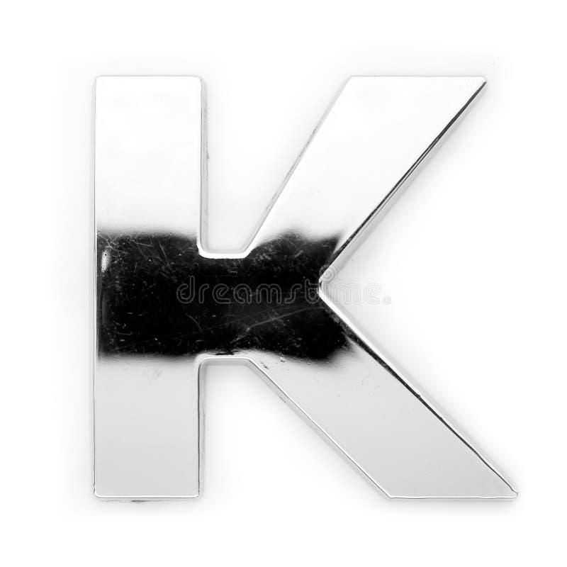 K - de brief van het Metaal stock afbeeldingen