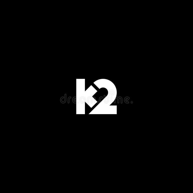 K2 Gewaagd Logo Template Vector stock illustratie