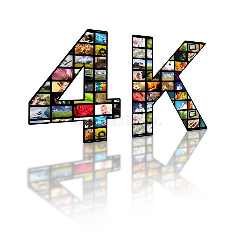 4k het concept van resolutietv royalty-vrije stock afbeeldingen